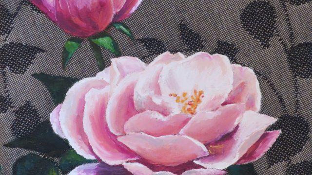 Rose on Linen