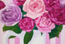 Roses in pink stripes