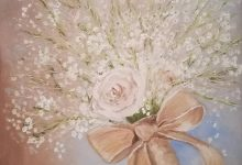 Rose and Gypsophila
