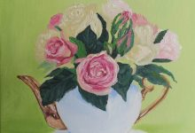 Rose in teapot